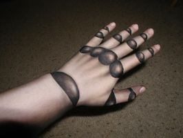 Costume makeup--Robotic Hand by TinyLittleFirefly