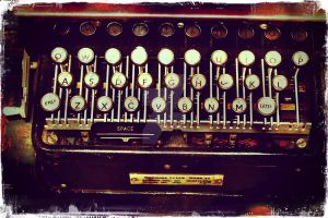 Enigma - Typewriter II by MagpieMagic