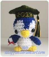 Graduation Penguin by xxtiffiee