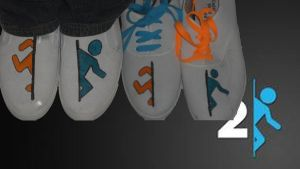 For Sale - Portal 2: Custom Logo Shoes by Rudolftheclown