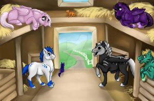 Fantasy Stables by DragonsFlameMagic