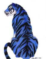 Blue Tiger by morganmonahan