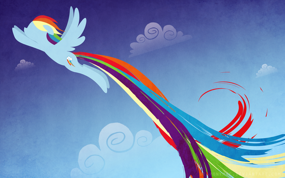 Rainbow Dash Wallpaper by bigponymac