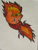 Fire Kirby Linart COLOURED by MissDrawsAlot