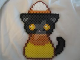 Cute Candy Corn Kitty by PerlerHime