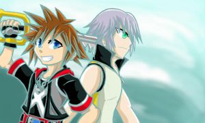 AT - Sora and Riku: Dream Drop Distance by Sonicbandicoot