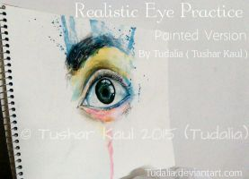Realistic Eye Practice - Painted Version by Tudalia