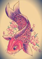 Koi tattoo design by ahsr