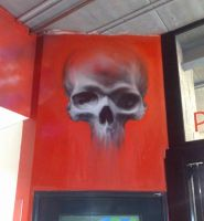 Graff Skull by PerthGraffScene