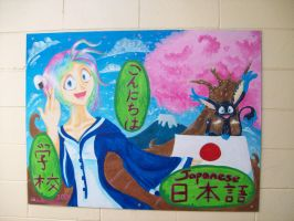 Japanese mural project by mmishee