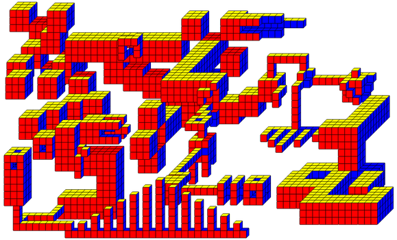 More Cubic Fun - Cube City by murderen