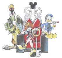 Sora on the Throne by Andrex91
