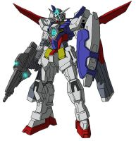 AGE-1 Gundam AGE-1 Normal w/ Zefuld Launcher by unoservix