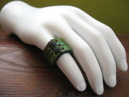 Corset Ring- Green Band by Vile-Victorian