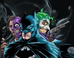 Batman Trinity by BIG-D-ARTiZ