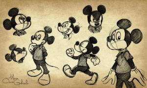 Mickey Mouse sketches by MarioOscarGabriele