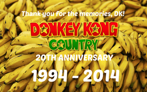 Donkey Kong Country 20th Anniversary Wallpaper #3 by TheWolfBunny