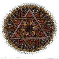 Harvest Dreaming Mandala by Quaddles-Roost