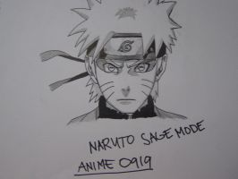 Naruto in Sage Mode by aNiMe0919