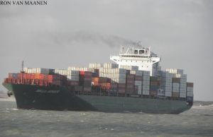 German container ship Bella Schulte 2011- by roodbaard1958