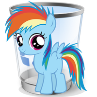 Recycle Bin (empty) by Liggliluff