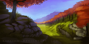 Landscape speed paint (with video) by Keprion