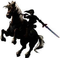 Dark Link on Dark Epona by Black-Link