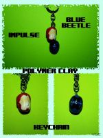 Blue Beetle/Impulse Keychain by OloTEREolO