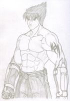 Jin Kazama 2008 Sketch by TheALVINtaker