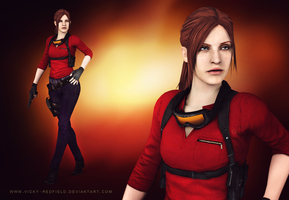 Claire Redfield sniper with ponytail wallpaper by Queen-Stormcloak