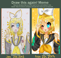 Draw Again Meme- Kagamine Rin by TriSarahTopss