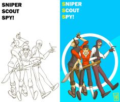 Sniper Scout Spy by Katree