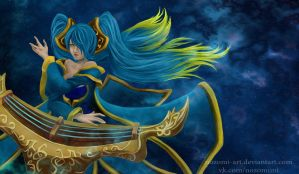 Sona, League of Legends by Nozomi-Art
