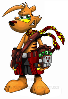 :Ty the tasmanian tiger: by Efalt