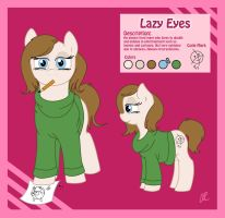 OC Pony: Lazy Eyes Reference Sheet by SlushiOwl
