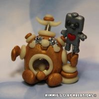 Polymer Clay Robot - I Love Robots Robot by KIMMIESCLAYKREATIONS