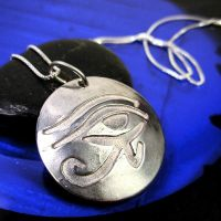 Eye of Horus Necklace by che4u