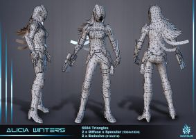 Alicia Winters - Wireframe by davislim