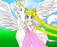 A Girl and her Pegasus by CrystalSetsuna