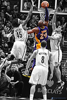 Kobe Bryant I brooklyn dunk by RafaelVicenteDesigns