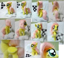 Filly Fluttershy on cloud pillow by Rens-twin