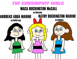 Kathy, Maca and Andreas, The Cousinpuff Girls by MikeEddyAdmirer89