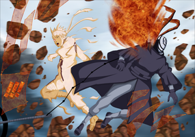 Naruto VS. Tobi by iAwessome
