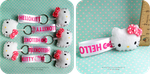 Hello Kitty Keychain -Pink n' White- by Kitty-Sprinkles