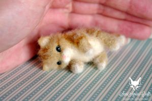 tiny ginger kitty by SaniAmaniCrafts
