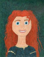 A Portrait of Merida by daisyplayer1