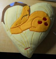 Applejack Pony Pillow by o01101011