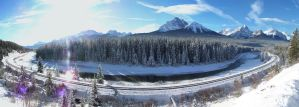 Morants Curve Winter Panoramic by MrConductor