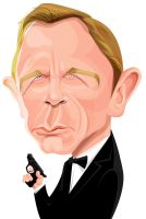 Revised Daniel Craig as Bond by kgreene