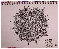 My Zentangle Drawing by LaVetteMarie